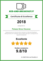 Bed-and-breakfast.it certificato di eccellenza