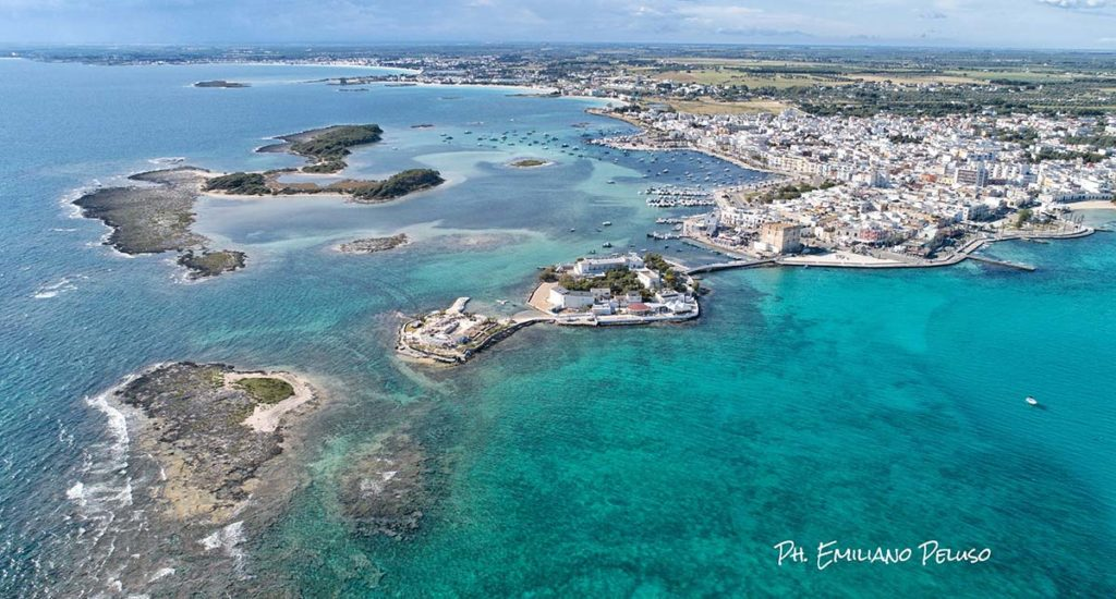 Porto Cesareo, veduta aerea. Foto Emiliano Peluso.