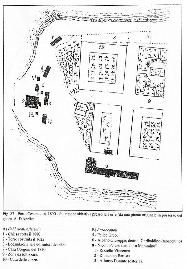 Porto Cesareo Mappa Storica
